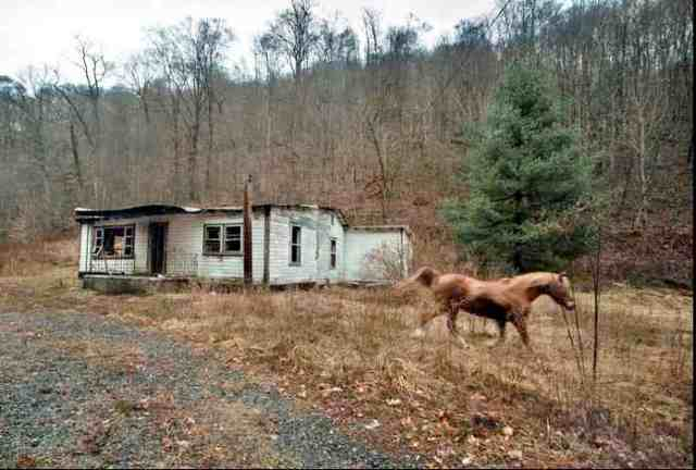 Abandoned home sold to MTR mining company near Blair, WVa, undated/Michael Williamson, The Washington Post, washingtonpost.com