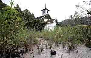 Abandoned church choked with weeds and sludge from MTR mining, Boone County, WVa, Oct 05/Chris Russell, The Columbus Dispatch, ohvec.org