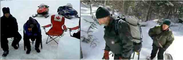 • Friends ice fish in northern Ontario/youtube.com • Martin Olbert & Rick Mercer go bear-tagging in Algonquin Park, Ontario/youtube.com