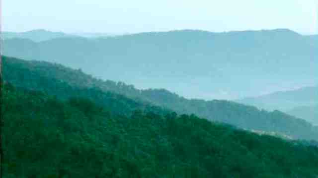 "West Virginia Mountains, image from trailer for ""On Coal River/oncoalriver.com"