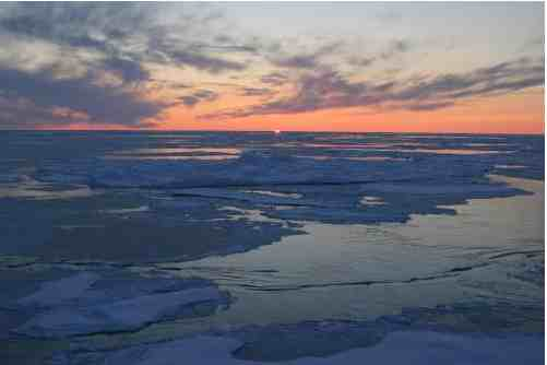 Sunset over the Arctic Ocean, Sept 1, 08/Jessica K. Robertson, U.S. Geological Survey, usgs.com