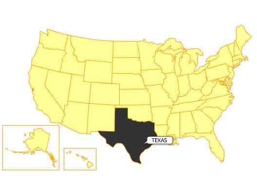 Texas = 261,797 square miles/presentationmall.com