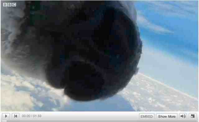 "Mother bear noses Snowball Cam, image from ""Polar Bear: Spy on the Ice""/BBC One, youtube.com"