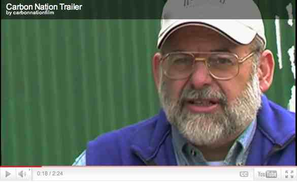 "Bernie Karl, geothermal pioneer, Fairbanks, AK, image from trailer for ""Carbon Nation""/carbonnationthemovie.com"