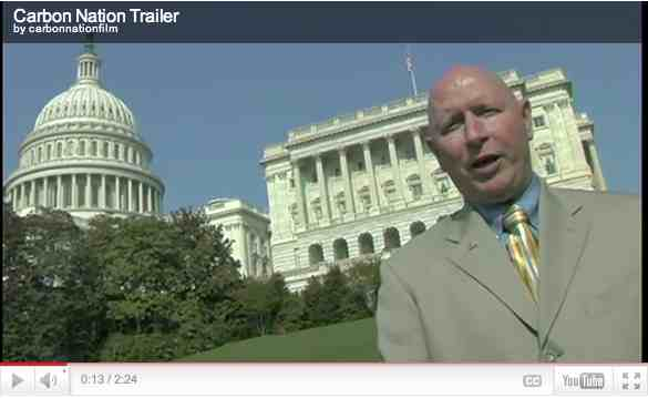 "Dan Nolan, Dept. of Defense Green Hawks, Washington, D.C., image from trailer for ""Carbon Nation""/ carbonnationthemovie.com"