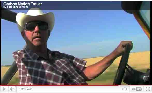 "Cliff Etheredge, wind farmer, Roscoe, TX, image from trailer for ""Carbon Nation""/carbonnationthemovie.com"