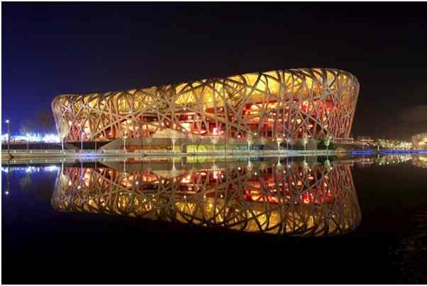National Stadium, Beijing, China, Earth Hour, March 27, 2010/Janek Zdzrski, WWF, photoshoptutorials.ws