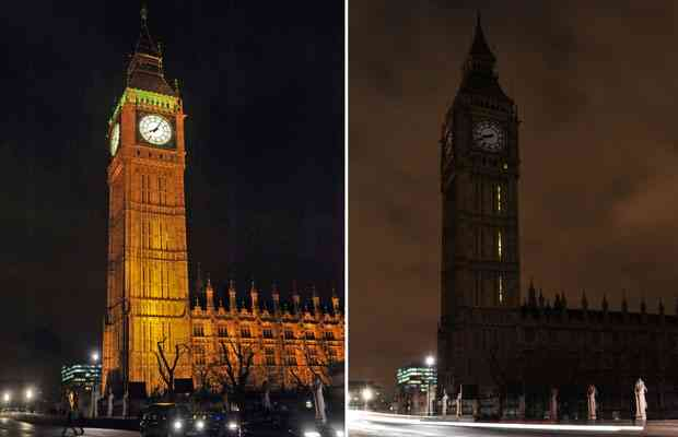 Big Ben, House of Parliament, London, England, Earth Hour, March 28, 2009/Leon Neal, AFP-Getty, The Vancouver Sun, vancouversun.com