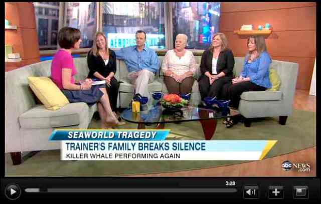 "Elizabeth Vargas interviews Dawn Brancheau's family on ABC's ""Good Morning America,"" April 4 2011/abcnews.go.com"