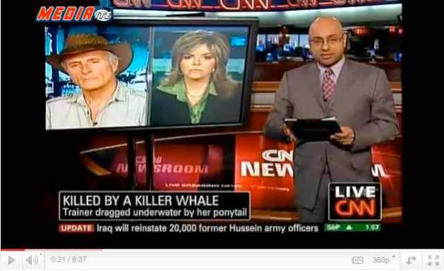 Jack Hanna & talk show host Jane Velez-Mitchell debate captivity on CNN, Feb 26 2010/CNN.com, youtube.com