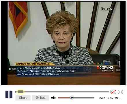 Subcommittee Chair, Rep Madeleine Bordallo (D-Guam) convenes hearing, Washington, D.C., April 27 2010/C-Span Video Library, Cspanvideo.org