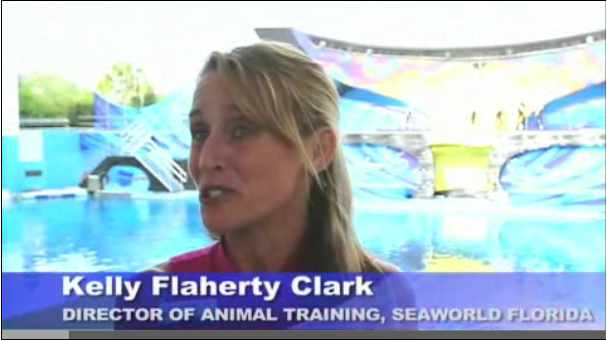 "Kelly Flaherty Clark talks about ""One Ocean,"" image from video/Sun Sentinel, sunsentinel.com"