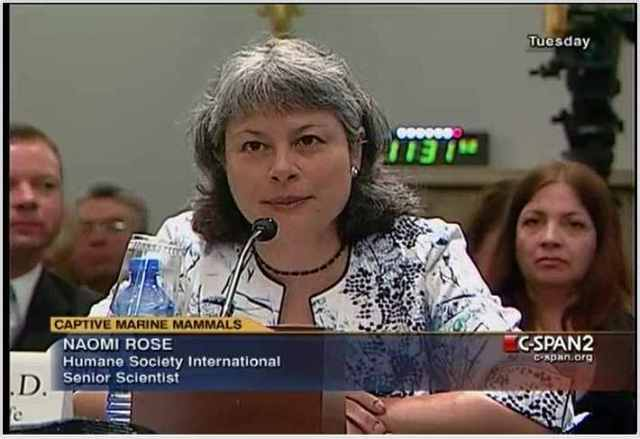Humane Society International Senior Scientist Naomi Rose testifies at House Natural Resources Subcommittee hearing, Washington, D.C., April 27 2010/C-Span Video Library, C-spanvideo.org