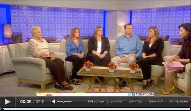 Dawn Brancheau's mother, sisters and brother appear on NBC's Today Show, April 4 2011/NBC Today Show, msnbc.msn.com