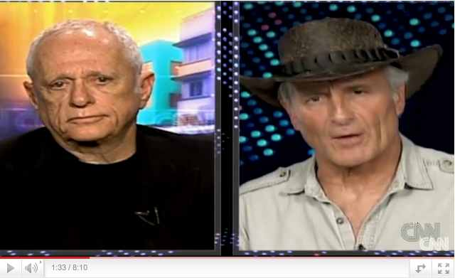 "Former ""Flipper"" trainer turned activist Ric O'Barry debates Jack Hanna on ""Larry King Live,"" March 2 2010/CNN, youtube.com"