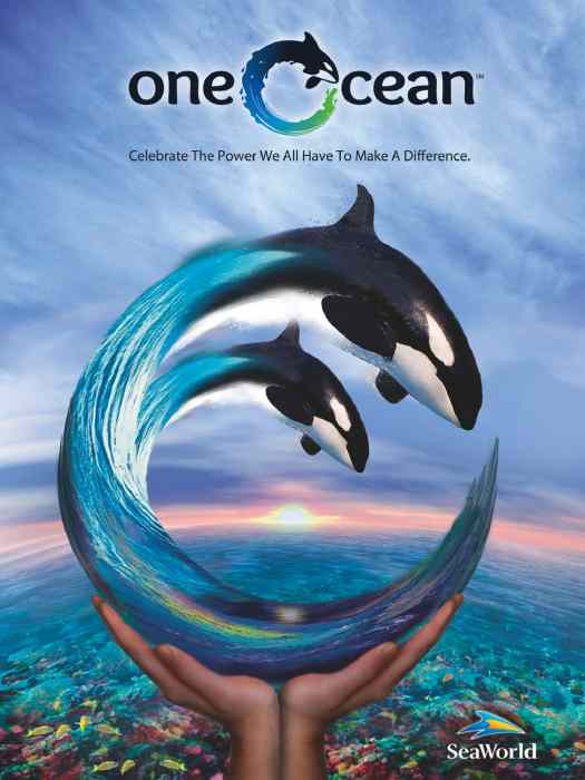 SeaWorld One Ocean promotional image/amusement industry news + notes/newsplusnotes.blogspot.com