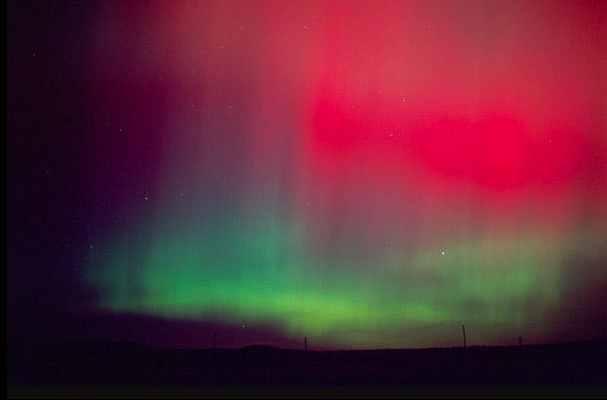 Aurora borealis is seen at midnight, east of Boise, Idaho, undated/ David R. Frazier, DanitaDelimont.com, Newscom, The Christian Science Monitor, csmonitor.com