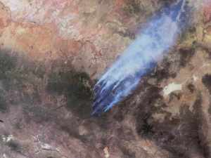 Terra Satellite image of Arizona's Wallow and Horseshoe 2 Fires,  June 7, 2011/ NASA JPL, nasa.gov