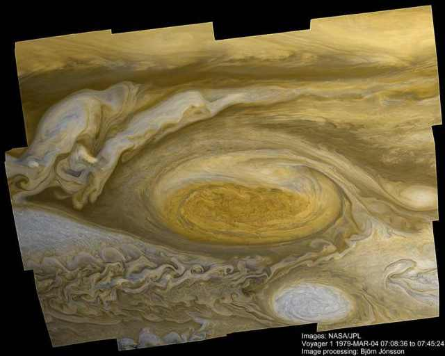 Close-up of Jupiter's Great Red Spot, taken during Voyager 1 flyby, March 4,1979/NASA, JPL, Astronomy Picture of the Day, apod.nasa.gov