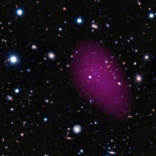 Composite image of Galaxy Cluster CL J1449+0856/ESA, ESO, Subaru, R. Gorbat et. al, redorbit.com