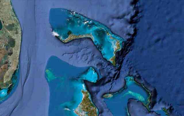 Satellite image of the Bahamas, undated/Google maps, mapsgoogle.com