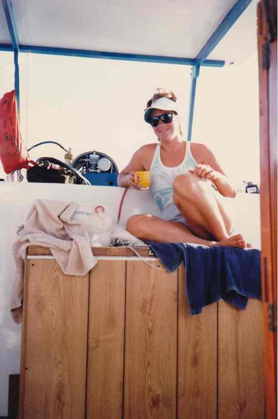 Denise Herzing, Bahamas, August 1986/GK Wallace