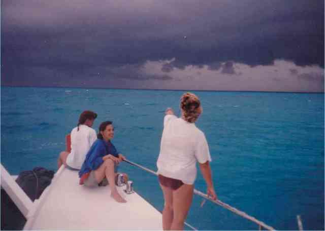 Denise Herzing & friends, Bahamas, Summer 1989/Craig Murray