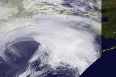 Major storm nears Alaska, Nov 8 2011/NOAA