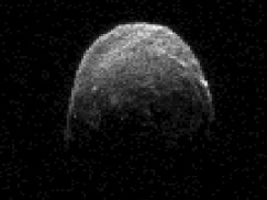 Radar image of asteroid 2005 YU55, 860,000 miles from earth, 11:45 a.m. PST, Nov 7, 2011/ NASA/JPL-Caltech