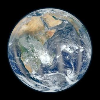 Suomi NPP composite images of Earth's Eastern Hemisphere, Jan 25, 2012/NASA, NOAA, USAToday.com