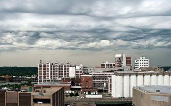 Clouds over Cedar Rapids, Iowa, undated/Jane Wiggins, NatGeo