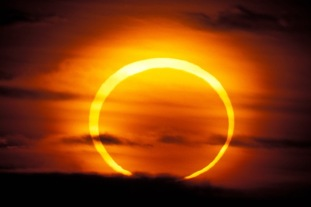 """Annular or """"ring of fire"""" partial eclipse, place & date unknown/Getty, Time Newsfeed"""