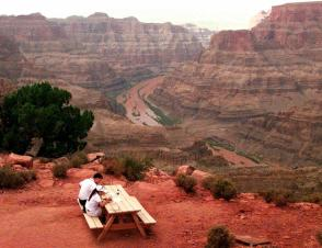 Scenic view, western Grand Canyon, Hualapai Indian Reservation, Arizona, Sept 2, 1998/Jeff Robbins, AP