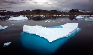 Fragment of Arctic sea ice, location & date unspecified/John Mcconnico, AP, The Guardian