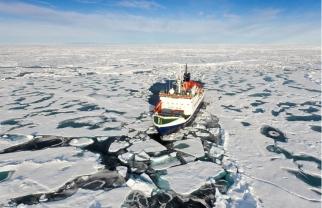 Research icebreaker Polarstern at North Pole, undated/Mario Hoppmann, Alfred Wegener Institute, alaskadispatch.com