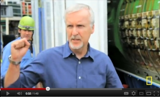 James Cameron aboard ship, undated/National Geographic, DeepSea Challenge