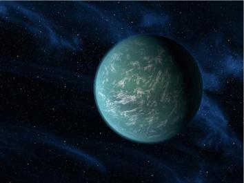 Artist's rendering of Kepler-22b/NASA, Ames, JPL-Caltech