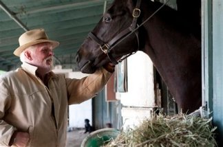 "Nick Nolte & unidentified horse in scene from ""Luck""/Gusmano Cesaretti, HBO, AP"