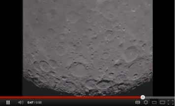 Video still, dark side of the moon, captured by GRAIL lunar spacecraft/NASA, tgdaily.com
