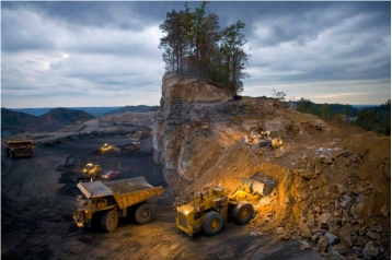 Mountaintop-removal mining operation, Kayford Mountain, W. Va., undated/J. Henry Fair, nationalgeographic.com