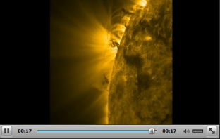 "Giant tornadoes, aka ""Plasma Indirections,"" on Sun's surface, Feb 7-8, 2012/NASA Solar Dynamics Observatory"