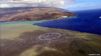 Underwater volcanic eruption near El Hierro, Canary Islands, undated/Guardia Civil, BBC