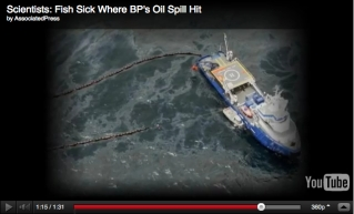 Deepwater Horizon Spill, Gulf of Mexico, April 2010/AP, youtube.com