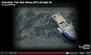 Deepwater Horizon Spill, Gulf of Mexico, April 2010/AP, youtube.com