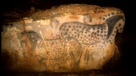 25,000-year-old cave painting of spotted horses measuring about 5' x 13', Pech Merle Cave, Cabrerets, Southern France, undated/P. Cabrol, Center for Prehistory of Pech Merle, AP, FoxNews