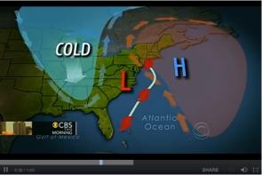 Worst-case Scenario Map: Hurricane Sandy + Winter Storm + Arctic Cold = Frankenstorm/CBS News