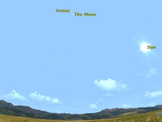 Where to find Venus in afternoon sky, March 26, 2012/Starry Night Software, Discovery News