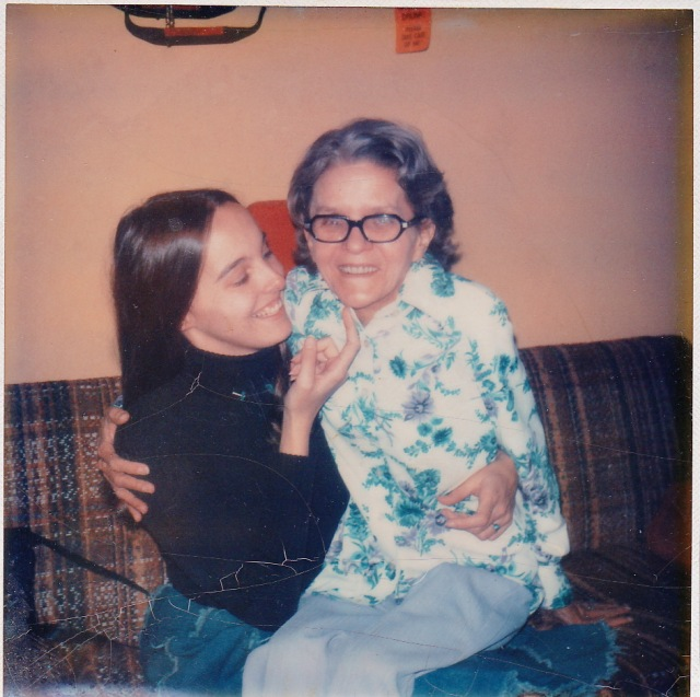 Gini & Mom, around 1974