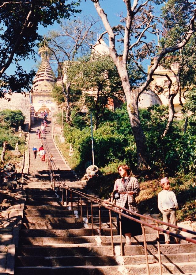 Gini at Swayambhunath, Kathmandu Valley, Nepal, 1987