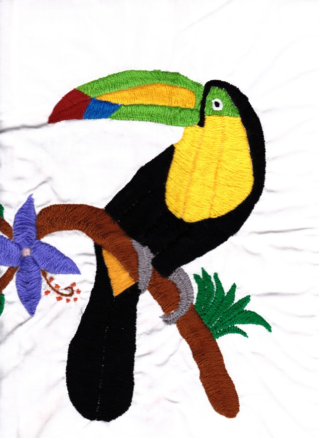 Embroidered cloth from Belize, April 2005/G.K.Wallace